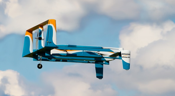 Amazon Drone in Flight